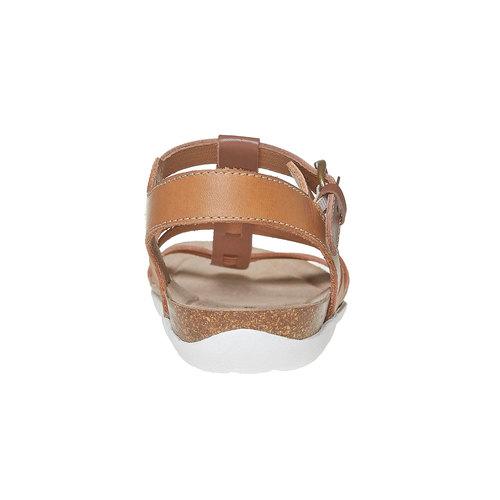 Sandali da donna in pelle weinbrenner, marrone, 564-3315 - 17