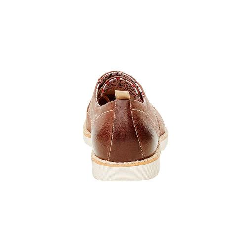 Scarpe basse di pelle con suola appariscente bata, marrone, 824-4694 - 17