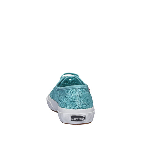 Sneakers con pizzo superga, turchese, 589-9309 - 17