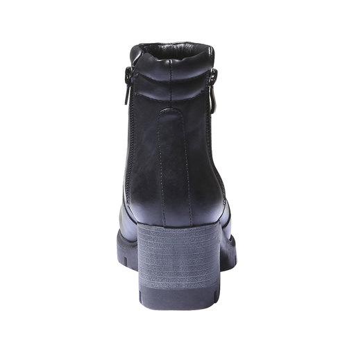 Stivaletti con suola carrarmato bata, nero, 791-6567 - 17