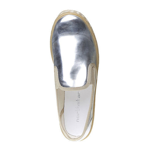 Slip-on argentate da donna north-star, bianco, 551-1104 - 16