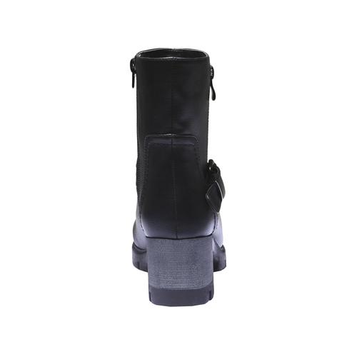 Stivaletti con suola carrarmato bata, nero, 791-6568 - 17