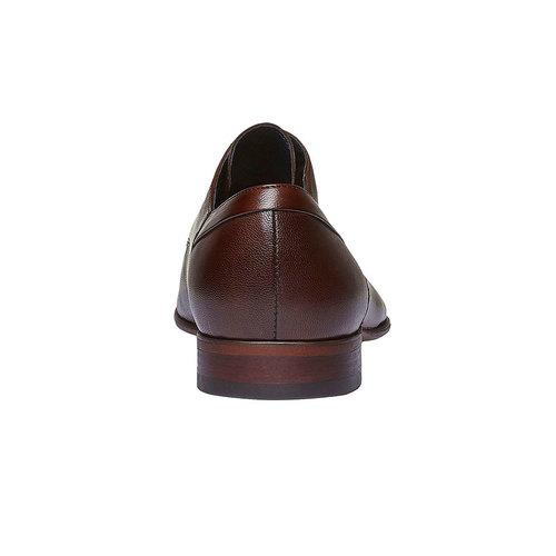 Scarpe basse di pelle in stile Derby bata, marrone, 824-4536 - 17