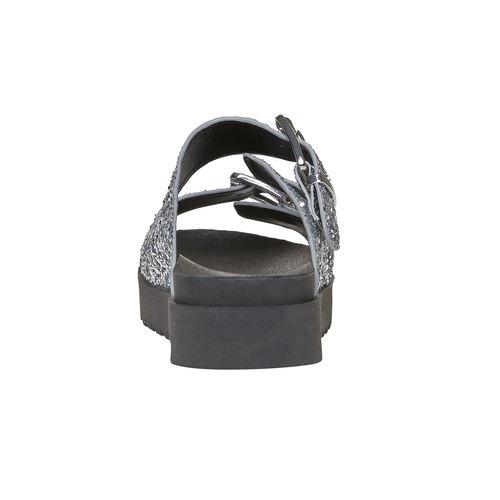 Slip-on brillanti da donna bata, bianco, 561-1309 - 17