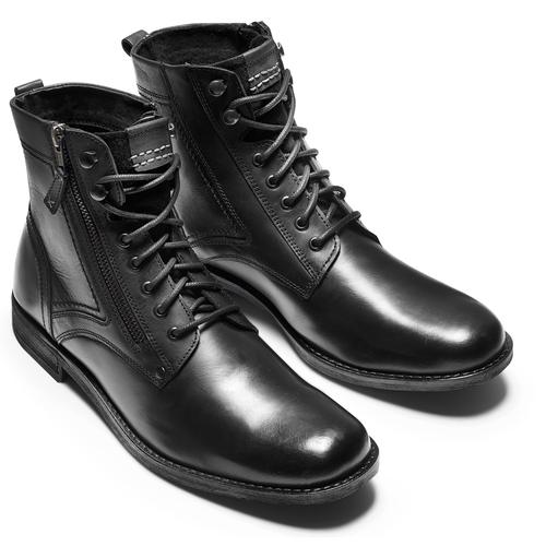 Scarpe di pelle alla caviglia bata, nero, 894-6449 - 17