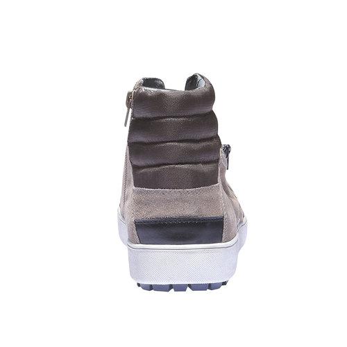 Sneakers in pelle alla caviglia gas, grigio, 843-2508 - 17