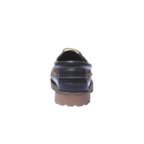 Scarpe in pelle in stile Boat weinbrenner, viola, 844-9250 - 17