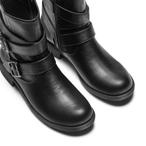 Stivaletti da donna con fibbie bata, nero, 591-6364 - 17