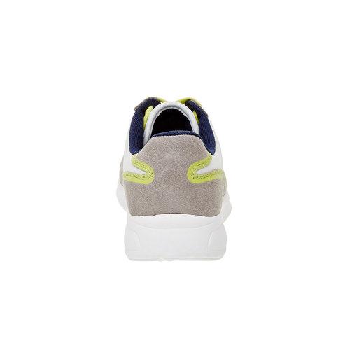 Sneakers da uomo in pelle gas, beige, giallo, 843-8606 - 17
