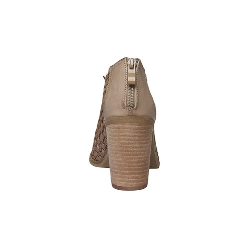 Sandali con punta aperta bata, marrone, 721-3945 - 17