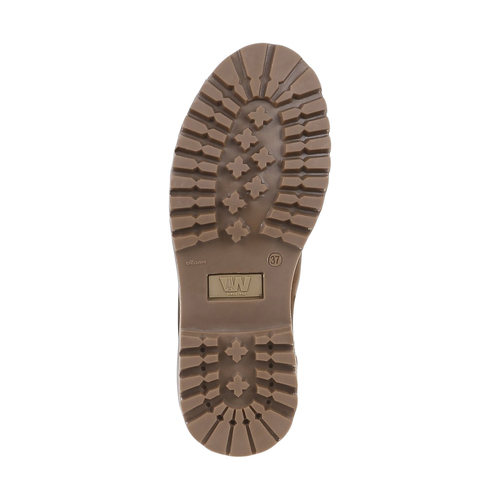 Scarpe in pelle con suola a carro armato weinbrenner, marrone, 594-3822 - 18