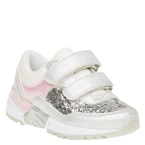 Sneakers da ragazza con chiusura a velcro mini-b, bianco, 221-1150 - 13
