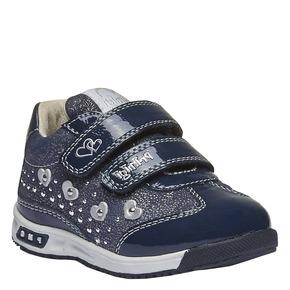 Sneakers in pelle con chiusure a velcro primigi, viola, 123-9134 - 13
