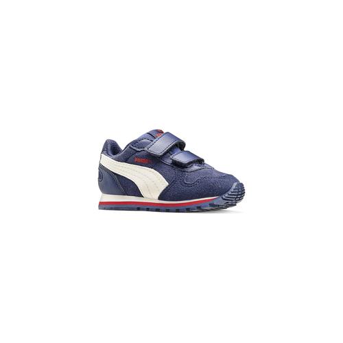 Sneakers di pelle da bambino puma, blu, 103-9182 - 13
