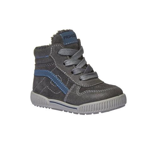 Sneakers in pelle alla caviglia con cerniera primigi, grigio, 193-2106 - 13