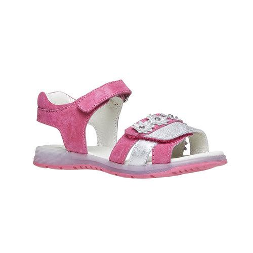 Sandali in pelle con fiori mini-b, rosa, 263-5163 - 13
