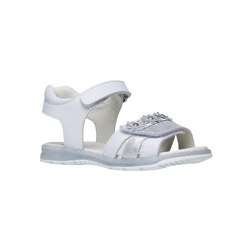 Sandali in pelle bianca mini-b, bianco, 264-1163 - 13