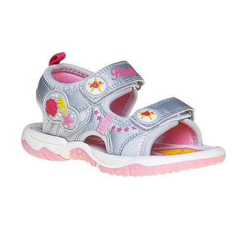 Sandali argentati per bambina primigi, grigio, 261-2141 - 13