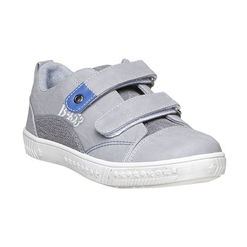 Sneakers da bambino con velcro mini-b, grigio, 211-2157 - 13