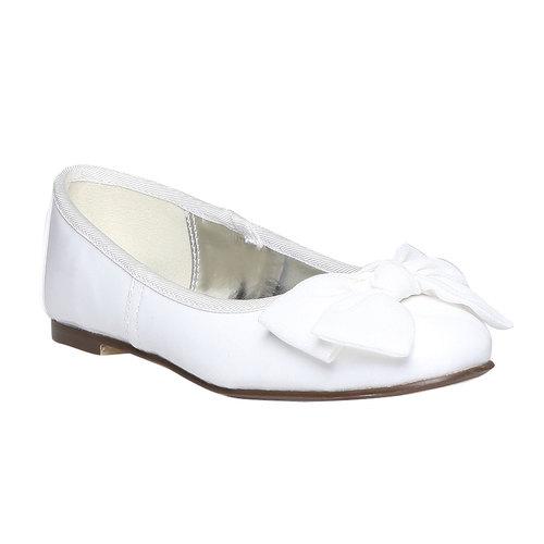 Ballerine da ragazza con fiocco mini-b, bianco, 321-1191 - 13