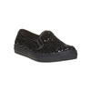 Slip-on da bambina con glitter mini-b, nero, 329-6229 - 13