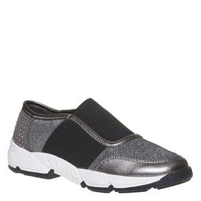Slip-on da bambina con borchie mini-b, grigio, 329-2218 - 13