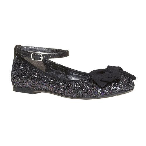 Ballerine da ragazza con glitter mini-b, nero, 329-6176 - 13