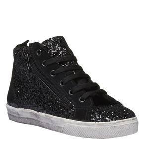 Sneakers alla caviglia con glitter north-star-junior, nero, 329-6198 - 13