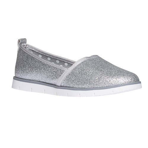 Slip-on da bambina con glitter mini-b, bianco, 329-1163 - 13