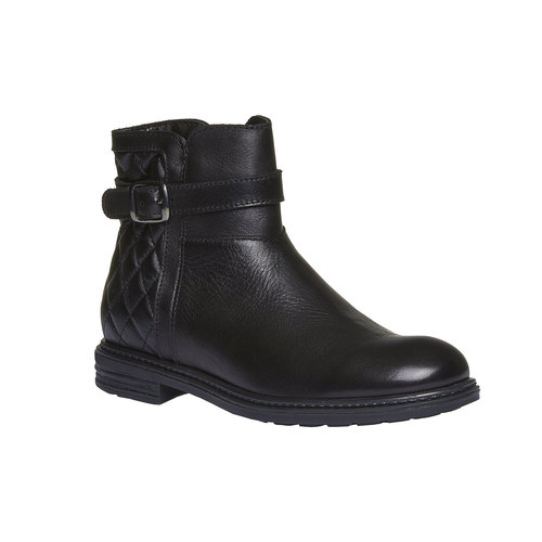 Stivaletti in pelle alla caviglia con cuciture mini-b, nero, 394-6233 - 13