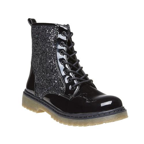 Scarpe sopra la caviglia da bambino con glitter mini-b, nero, 399-6253 - 13