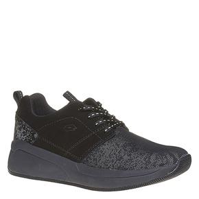 Sneakers nere con suola ampia lotto, nero, 509-6157 - 13
