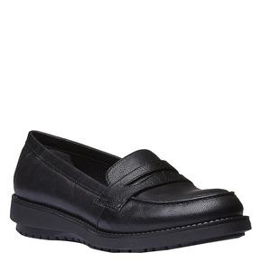 Scarpe di pelle in stile Loafer flexible, nero, 514-6185 - 13