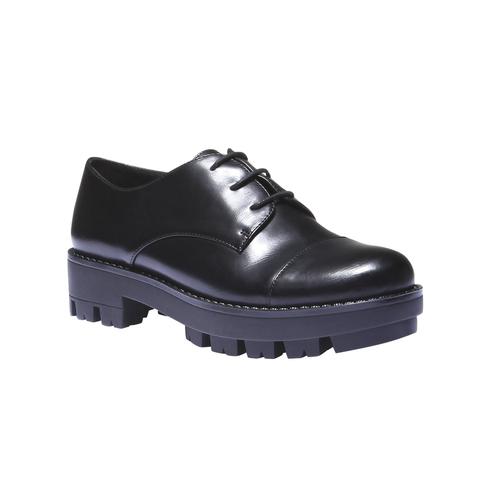 Scarpe basse con suola massiccia bata, nero, 521-6398 - 13