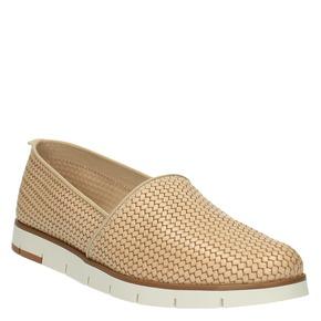 Slip-on da donna in pelle flexible, beige, 515-8203 - 13