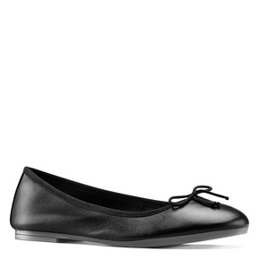 Ballerine in pelle bata, nero, 524-6144 - 13
