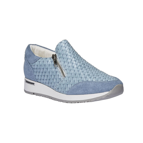 Sneakers dal design intrecciato north-star, viola, 531-9114 - 13