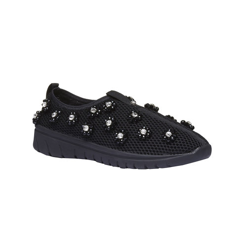 Slip-on da donna north-star, nero, 539-6118 - 13