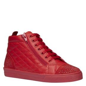 Sneakers rosse alla caviglia north-star, rosso, 543-5127 - 13