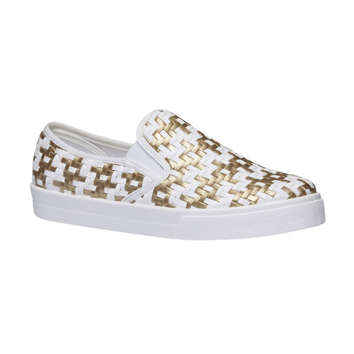 Slip-on da donna bianche e dorate north-star, giallo, 531-8120 - 13