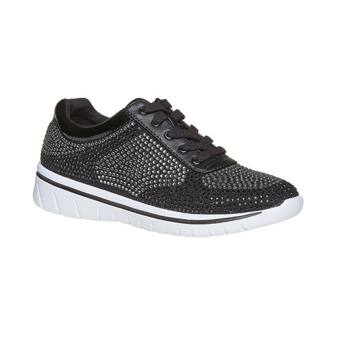Sneakers da donna con strass north-star, nero, 549-6261 - 13