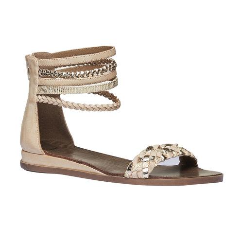 Sandali con cinturini attorno alla caviglia bata, beige, 561-8298 - 13