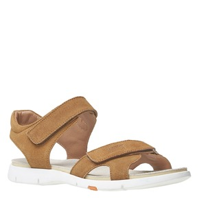 Sandali da donna in pelle flexible, marrone, 563-4397 - 13