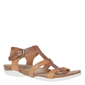 Sandali da donna in pelle weinbrenner, marrone, 564-3315 - 13