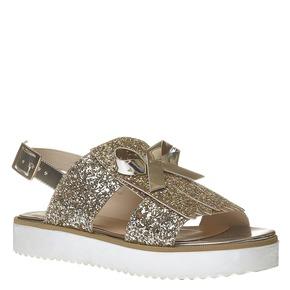 Sandali con glitter e flatform bata, oro, 569-8390 - 13