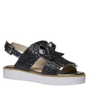 Sandali da donna con flatform bata, nero, 569-6390 - 13