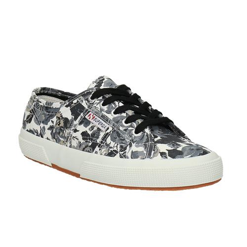 Sneakers da donna con stampa superga, nero, 589-6319 - 13