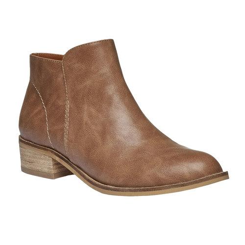 Stivaletti alla caviglia con tacco basso bata, marrone, 591-3578 - 13