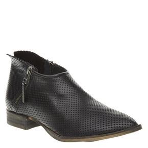 Stivaletti di pelle alla caviglia con perforazioni bata, nero, 594-6400 - 13