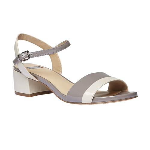 Sandali da donna bata, grigio, 661-2112 - 13